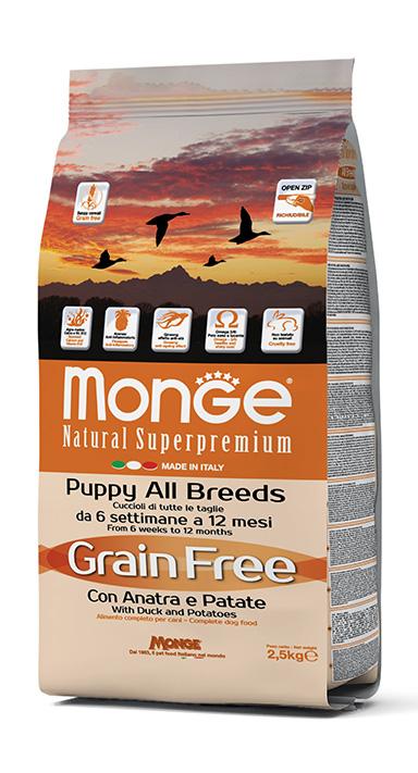 Monge Natural Superpremium All Breeds Puppy Grain Free